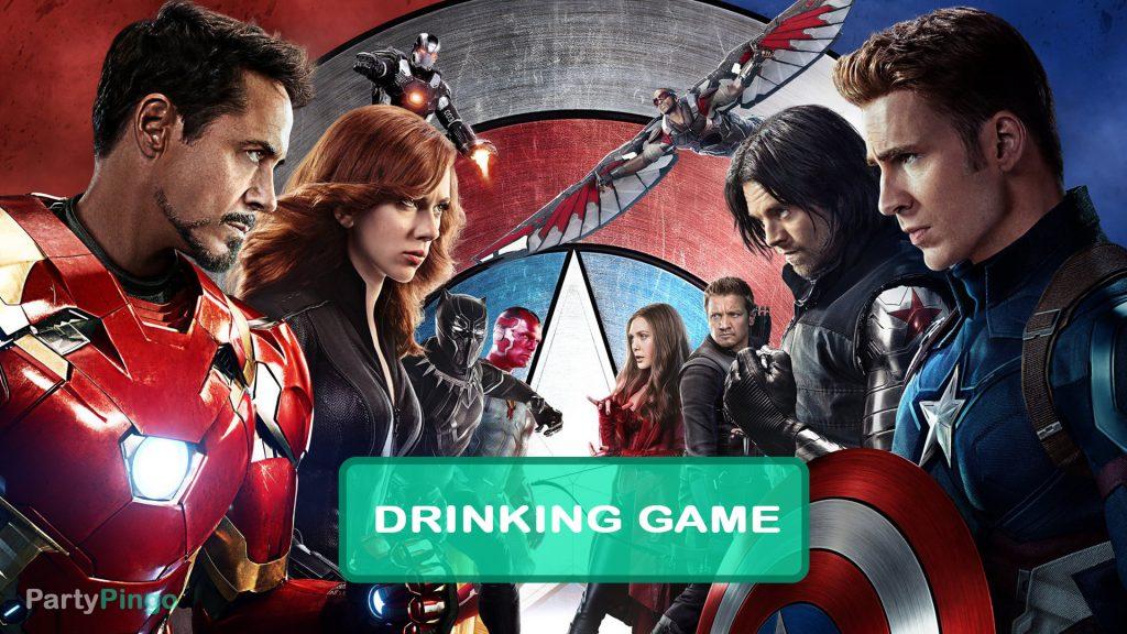 Captain America Civil War Drinking Game