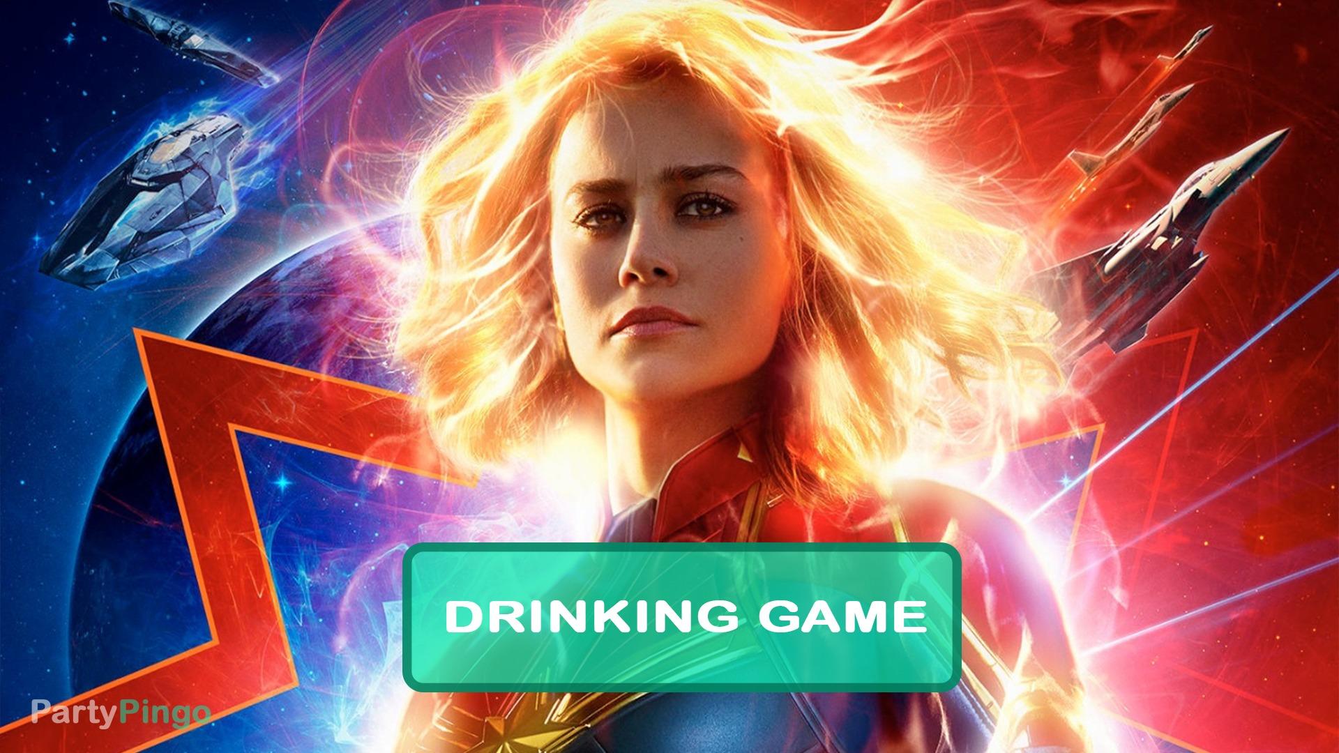 Captain Marvel 2019 Drinking Game Partypingo